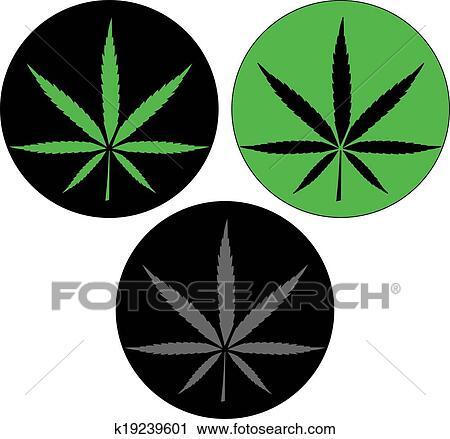 clipart of cannabis leaf icon button k19239601 search clip art rh fotosearch com Yin Yang Border Cool Yin Yang