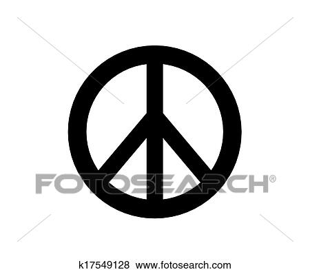 Stock Illustration Of Hippie Peace Symbol K17549128 Search Eps