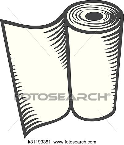 Clipart of paper towel (kitchen paper roll, ha k31193351 - Search ...