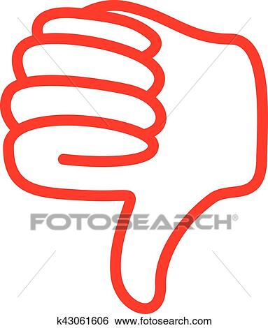 clip art of thumbs down k43061606 search clipart illustration rh fotosearch com thumbs up thumbs down clipart free thumbs down clipart black and white