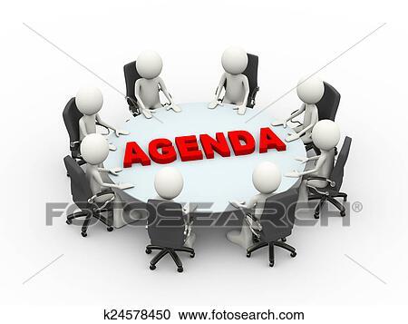 meeting agenda clipart