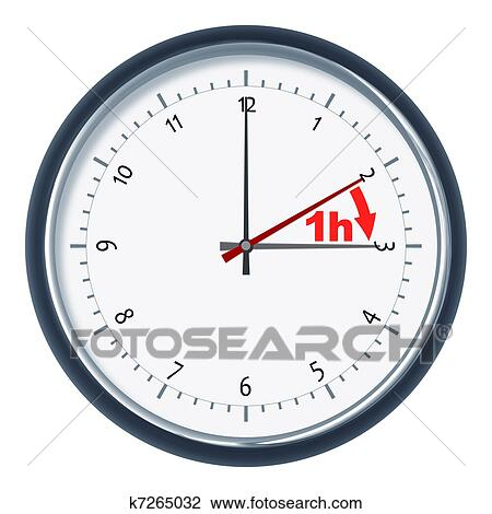 Clip Art of daylight saving time k7265032 - Search Clipart ...