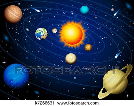 Clip Art Solar System Clipart solar system clipart and illustration 7851 clip art system