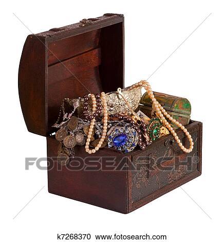 banques de photographies bois tr sor coffre bijoux k7268370 recherchez des photos des. Black Bedroom Furniture Sets. Home Design Ideas