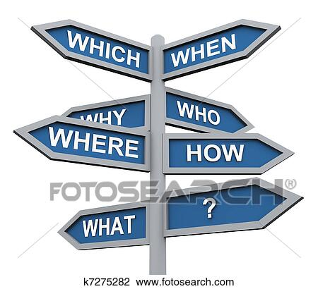 clip art of 3d questions direction sign k7275282 search
