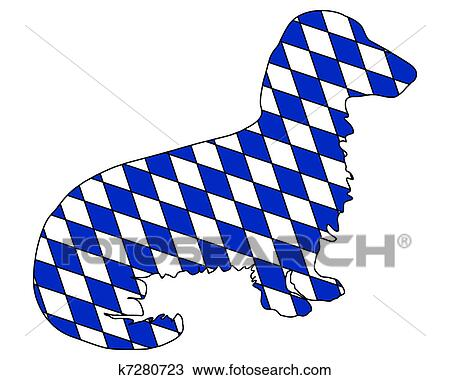 clipart of bavarian longhaired badger k7280723 search clip art rh fotosearch com badger clipart honey badger clipart
