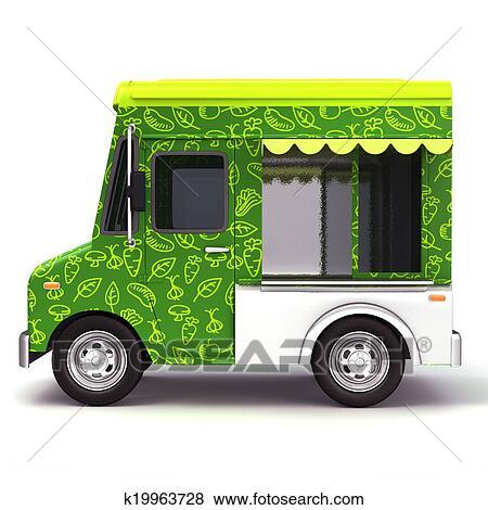 Stock Illustration Of Food Truck Organic K19963728