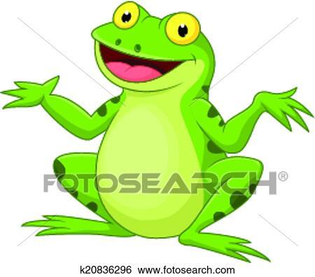 Clipart rigolote dessin anim grenouille verte k20836296 recherchez des cliparts des - Dessin de grenouille verte ...