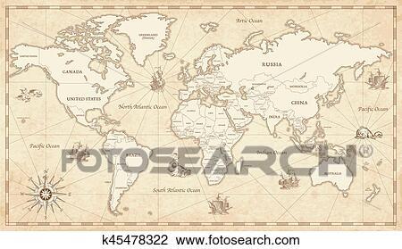 地囹kΈ�_剪贴画 - 葡萄收获期, 说明, 世界地图 k45478322