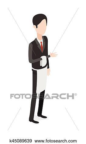 Restaurant Waiter Clipart