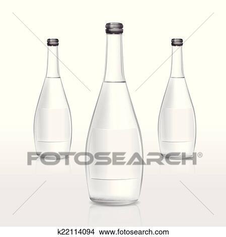 Glas leer clipart  Clipart - glas flasche, mit, leer, etikett k22114094 - Suche Clip ...