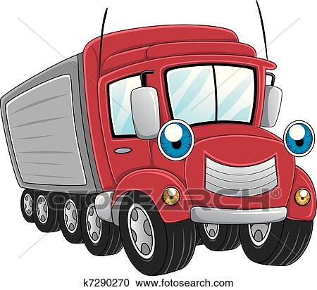 Clipart of Trailer Truck k7290270 - Search Clip Art ...