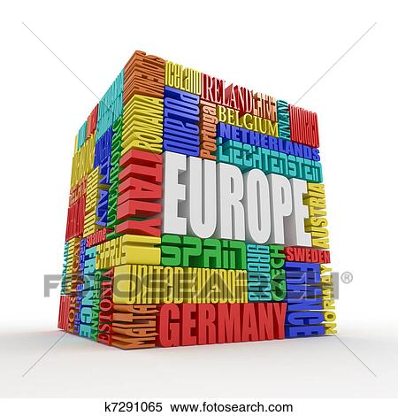banque d 39 illustrations europe bo te depuis nom de europ en pays k7291065 recherche de. Black Bedroom Furniture Sets. Home Design Ideas