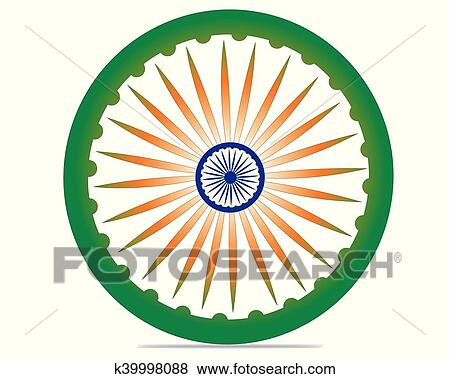 clip art of indian independence day concept with 3d ashoka wheel on rh fotosearch com independence day clip art pictures independence day clipart india