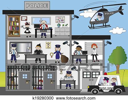 Polizeiwache clipart  Stock Illustrationen - polizeiwache k19280300 - Suche Clipart ...