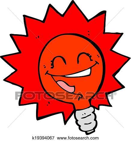 clipart heureux clignotant feu rouge ampoule dessin anim k19394067 recherchez des. Black Bedroom Furniture Sets. Home Design Ideas