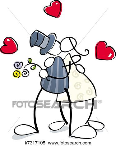 clipart of funny cuple get married k7317105 search clip art rh fotosearch com couple getting married clipart getting married clipart