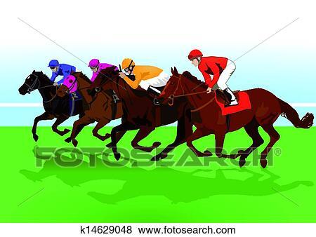 Clip Art racehorses Fotosearch Search Clipart Illustration
