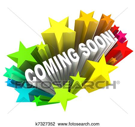 stock photo of coming soon announcement of new product or store rh fotosearch com free coming soon sign clip art photo coming soon clipart