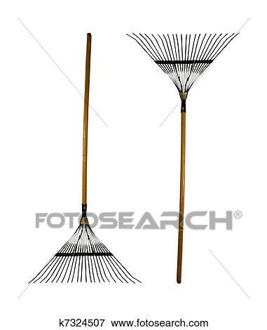 garden rakes. garden rakes on a white background