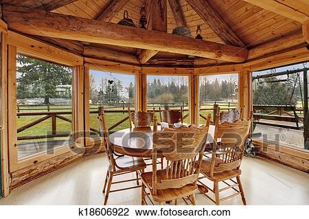 Design comedor hermoso : Colección de foto - hermoso, comedor, en, apunte cabaña, casa ...