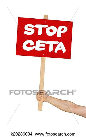 Drawings of person holding a sign saying stop ceta for Ponteggio ceta dwg