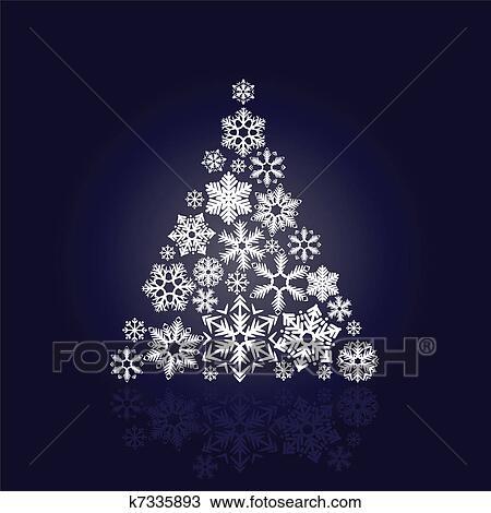 Clipart stilizzato albero natale fatto di vario for Immagini natale stilizzate