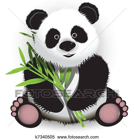 clipart of panda k7340505 search clip art illustration
