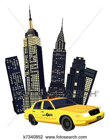 new york skyline vector wall mural