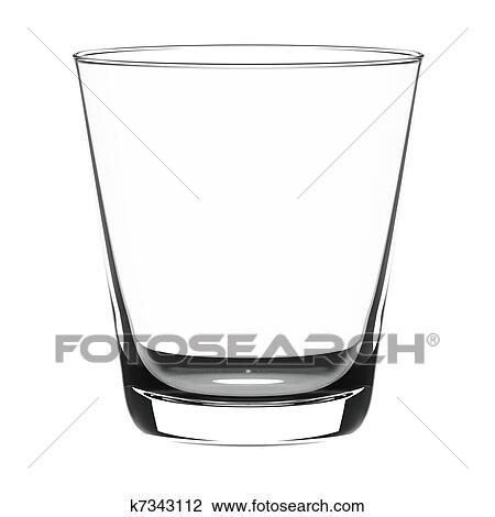 Clip Art of Empty glass k7343112 - Search Clipart ...