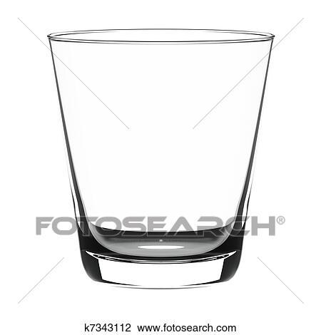 Clip Art of Empty glass k7343112 - Search Clipart ...