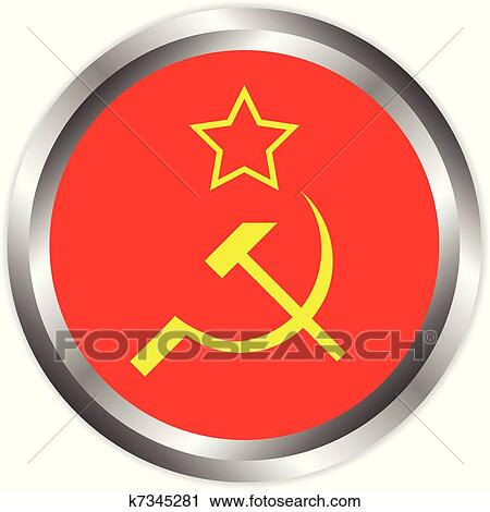 Clipart Of Soviet Union Flag Icon K7345281 Search Clip Art