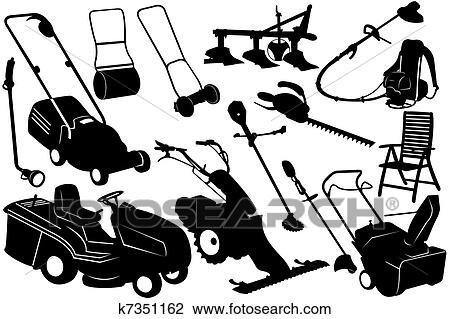 Clipart outils jardinage k7351162 recherchez des for Dessin outils jardinage