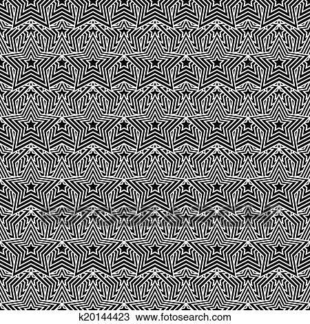 Stock foto schwarz wei stern fliesenmuster muster wiederholung hintergrund k20144423 - Fliesenmuster schwarz weiay ...