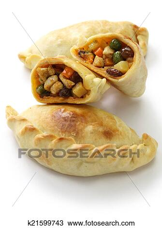 Stock photo of chicken empanada k21599743 search stock for Artistic argentinean cuisine