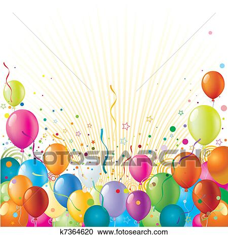 Clipart of Celebration and party banner k4356670 - Search Clip Art ...
