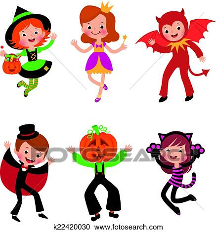 clipart of children in halloween costumes k22420030 search clip rh fotosearch com halloween costumes clipart free halloween costumes clipart free