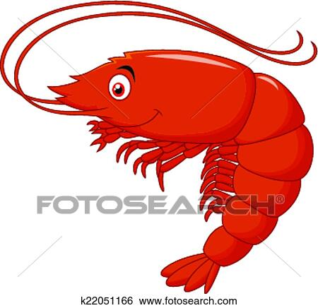 clip art of cute shrimp cartoon k22051166 search clipart rh fotosearch com Shrimp Boat Clip Art Shrimp Logos Clip Art