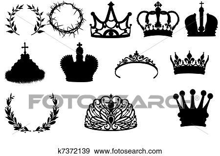 Colección de ilustraciones - colección, de, coronas, y, coronas ...