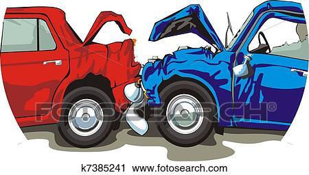 Clipart ecras voitures k7385241 recherchez des clip arts des illustrations des dessins - Coloriage cars accident ...