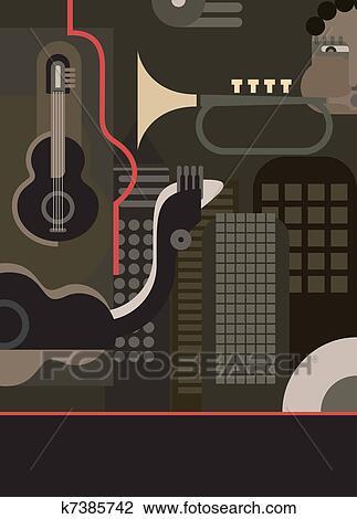 剪贴画 音乐, , 矢量, 背景
