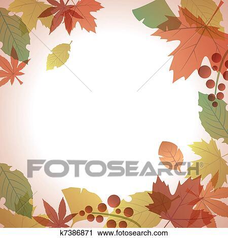 万年青叶粘贴画-剪贴画 秋季叶子, 叶子, 框架图片