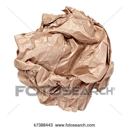 Crumpled Paper Ball Clipart