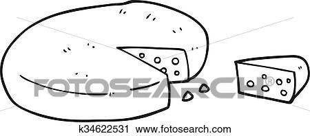 Käse clipart schwarz weiß  Clipart - schwarz weiß, karikatur, käse k34622531 - Suche Clip Art ...