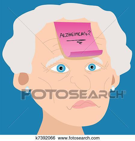 Clip Art Vector - Memory loss concept. man with mental
