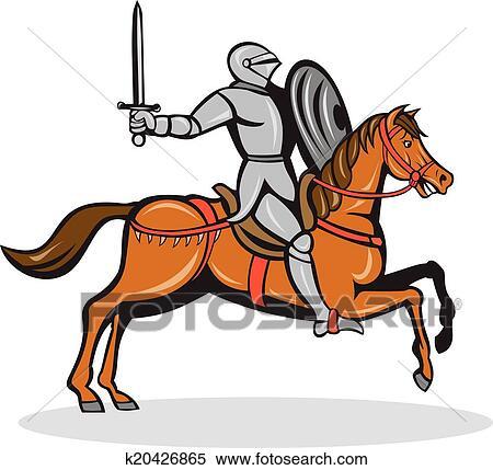 Clipart chevalier quitation cheval dessin anim k20426865 recherchez des clip arts des - Cheval dessin couleur ...