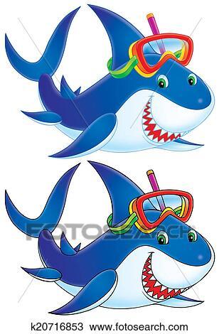 Disegno squalo k20716853 cerca clipart illustrazioni for Disegno squalo bianco