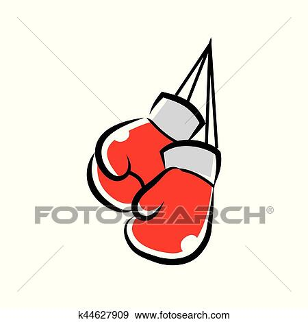 clip art of boxing gloves k44627909 search clipart illustration rh fotosearch com boxing gloves clipart black and white boxing gloves clip art free