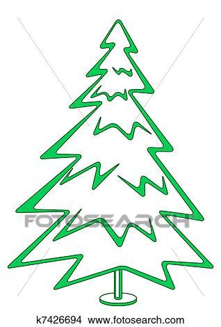 Dessins no l sapin pictogramme k7426694 recherche de clip arts d 39 illustrations et d - Dessin sapin vert ...