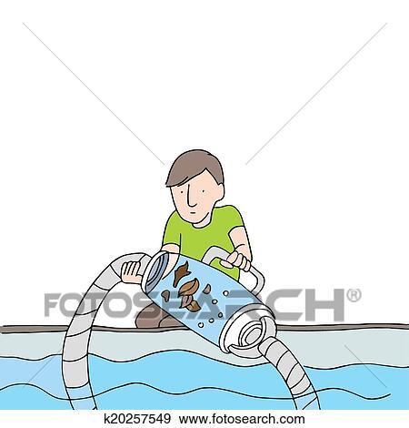 Clipart nettoyage piscine filtre vide k20257549 - Clipart piscine ...